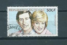 1984 Tchad Charles And Diana 500F Used/gebruikt/oblitere - Chad (1960-...)