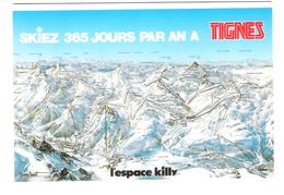 France - Tignes Val Claret - Map - Landkarte - Ski Pisten - Sonstige Gemeinden