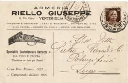 4203 IMPERIA VENTIMIGLIA RIELLO ARMERIA - Marcophilie
