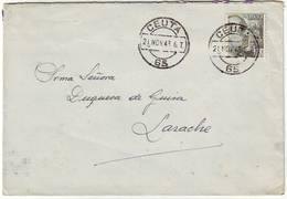 Lettre De CEUTA Maroc Espagnol Pour LARACHE Idem , Adressee à La DUCHESSE DE GUISE  ( Comtesse De Paris ) - Marcophilie (Lettres)
