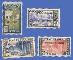ININI 53 / 56 NEUFS ** TYPE DE GUYANE SANS R.F. AVEC SURCHARGES DE 1932-38 - Unused Stamps