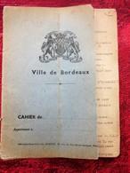 WW2 JUIN à JANV 1940 RÉCITS DE GUERRE 39/45 BORDEAUX/RADIO LONDRES-MILITARIA CAHIER DACTYLOGRAPHIÉ BOBARDS BOMBARDEMENTS - Documenti