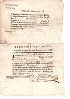 LYONS La FORET Et Canton 8 Documents Anciens Divers - Old Paper