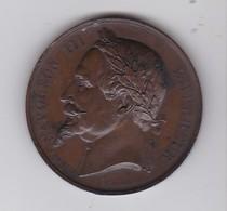 MEDAILLE JETON BRONZE - VILLE De PARIS Enseignement Du Dessin  1867 - Professionnels / De Société