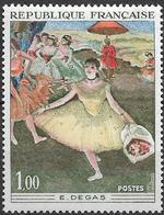 1970  Frankreich Mi. 1732 **MNH  Tänzerin Mit Blumenstrauß; Gemälde Von Edgar Degas - Francia
