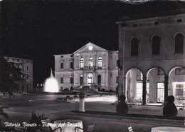 VITTORIO VENETO - TREVISO - PIAZZA DEL POPOLO - BAR CON INSEGNA PUBBLICITARIA BIRRA PEDAVENA - 1956 - Treviso