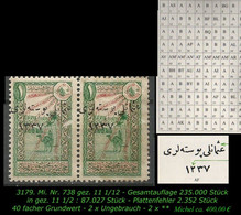 TURKEY ,EARLY OTTOMAN SPECIALIZED FOR SPECIALIST, SEE.. Mi. Nr. 738 - Plattenfehler -RRR- - 1920-21 Anatolië