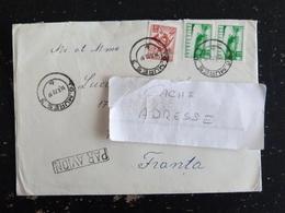 LETTRE ROUMANIE ROMANIA ROMANA AVEC YT 2346 ET 2637 - COR POSTAL AUTOROUTE - Cartas