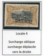 Congo - Cob 35L - Locale L4 OBLIQUE -   Rare Nuance JAUNE OLIVE / Shade Yellow Olive - RRR - KX2 - Congo Belge