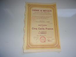 CHIMIE & METAUX (1929) - Azioni & Titoli