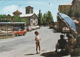 PIANDELAGOTTI - FRASSINORO - MODENA - CHIESA - BUS - AUTO - BAR CON INSEGNA PUBBLICITARIA BIRRA WUHRER - 1972 - Modena