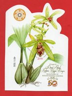 Indonesia-2017-Imperf SS-MNH-Orchids-Bogor-Botanic-Garden-461-500. RARE - Indonesia