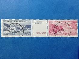 1981 ITALIA LAVORO ITALIANO NEL MONDO DIGHE CON APPENDICE FRANCOBOLLI USATI ITALY STAMPS USED - 1946-.. Republiek