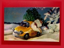 Bonne Année Kupriyanov Santa Claus Machine Sapin De Noël Double 1974 Excellent - Anno Nuovo