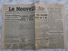 PAIRE DU 1c MERCURE N° 404 SUR QUOTIDIEN LE NOUVELLISTE DU MARDI 18 FEVRIER 1941. LYON POUR CERDON. TARIF À 2c - Marcofilie (Brieven)