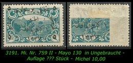 TURKEY ,EARLY OTTOMAN SPECIALIZED FOR SPECIALIST, SEE.. Mi. Nr. 759 II - Mayo 130 - 1920-21 Anatolië