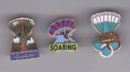 Parachutisme 3 Pin's - Paracaidismo