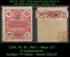 TURKEY ,EARLY OTTOMAN SPECIALIZED FOR SPECIALIST, SEE.. Mi. Nr. 764 I - Mayo 127 - 1920-21 Anatolië