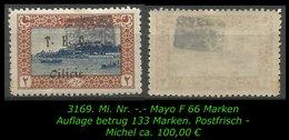 TURKEY ,EARLY OTTOMAN SPECIALIZED FOR SPECIALIST, SEE.. Mi. Nr. -.- Mayo F 66 -FEKE- -RRR- - 1920-21 Anatolië
