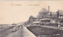 14. CABOURG. CPA .LA DIGUE PROMENADE - Cabourg
