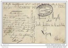 """Cachet Militaire """"108e Regiment De Marche"""" De Tremblay Les Gonesse 1914 Frappe SUP - Poststempel (Briefe)"""