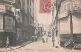 CP- Montmartre - La Rue Germain-Pilon - Voyagé - Francia