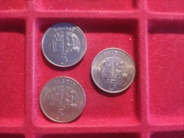 GUINEA EQUATORIALE 5 Ekuele Per 3 Monete - Aequatorial-Guinea