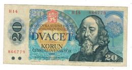 Czechoslovakia ,  20 Kor. 1988, Used, See Scan. - Cecoslovacchia