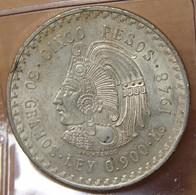 Mexique 5 Pesos 1948 Mexico. Buste De Cuauhtemoc - Mexiko