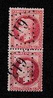 FRANCE  - N° 32 En Paire  - Valeur Catalogue : 65.00 € - 1863-1870 Napoleon III Gelauwerd