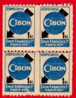 -- 4 TIMBRES NEUF / CIBON SOPEGROS - 3 RUE FRANCOIS 1er PARIS VIIIe - - Commemorative Labels