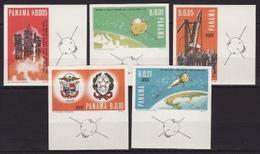 Panama, 1966, Space ,Italian Program, 5 Stamps Imperf. - Espace