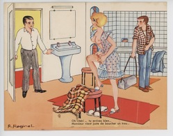 Plombier : Oh Chéri.. Tu Arrives Bien... (carte Système A. Raginel) Page Garde Abimée Ouf Finie... - Humor