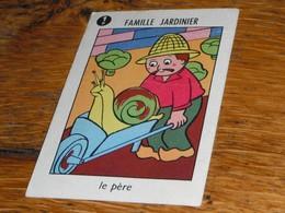 Carte Jeu Des 7 Familles Escargot Jardin Brouette Salade Le Père Jardinier - Group Games, Parlour Games