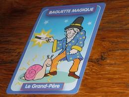 Carte Jeu Des 7 Familles Escargot Baguette Magique Le Grand-Père Kim'play - Group Games, Parlour Games