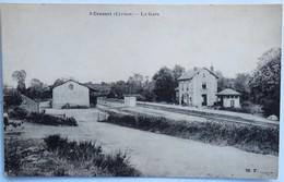 C. P. A. : 23 CRESSAT : La Gare - Autres Communes