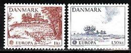 Denmark, 1977, Europa CEPT, Landscapes, 2 Stamps - 1977