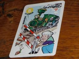 Carte Jeu Des 7 Familles Escargot Durail Grand-Mère Barrière Locomotive Rail Vapeur Humour - Group Games, Parlour Games