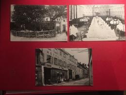 Lot De 3 CPA De Montfort L'Amaury Hotel Des Voyageurs Navarre Genty Jardins Et Terrasse Vers 1900 Salle à Manger D'été, - Montfort L'Amaury