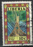 Liberia 1988 Oblitéré Used Monkey Bridge Pont De Signe Pont Suspendu SU - Liberia