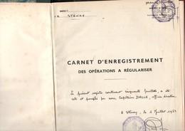 Carnet Vierge Coté Par Capitaine DALLE,  En 1961, D'enregistrement à STENAY, Cercle Mixte Gendarmerie, 3 Cachets,  6ème - Politie & Rijkswacht