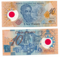 2000 //  BANCO CENTRAL DO BRASIL // 10 REAIS // POLYMER // UNC - Brazil