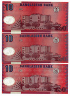 2000 // BANGLADESH BANK // 3 X TEN TAKA // POLYMER // UNC - Bangladesh