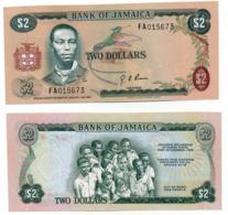 1973 // BANK OF JAMAICA // TWO DOLLARS //  UNC - Jamaique