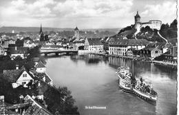 SCHAFFHAUSEN → Vollbesetztes Dampfboot Auf Dem Rhein Anno 1953 - SH Schaffhausen