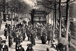 CPA 75 PARIS 17e Station De Métro PORTE MAILLOT Pagode Hector Guimard Sortie Du Métropolitain Ed LL N° 296 Dos Vert - Arrondissement: 17