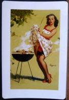 PIN UP SMOKE SCREEN 1958 GIL ELVGREN CARTE MODERNE - Pin-Ups