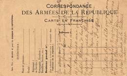 20-190 : CARTE POSTALE MILITAIRE. CORRESPONDANCE DES ARMEES DE LA REPUBLIQUE  CARTE EN FRANCHISE. - Marcophilie (Lettres)