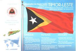 POSTAL   BANDERA DE TIMOR-LESTE (PORTUGUESE) - Otras Colecciones