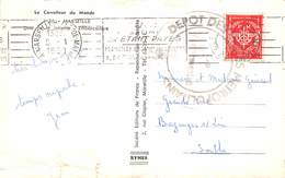 20-194 : CACHET DEPOT DES .....METROPOLITAINS. MARSEILLE 5 JANVIER 1959. - Marcofilia (sobres)